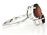 Hessonite Rhodium Over Silver Ring 4.00ctw