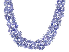 Tanzanite Sterling Silver Necklace Approximately 365ctw