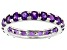 Amethyst Rhodium Over Sterling Silver Eternity Band Ring 2.64ctw