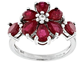 Mahaleo® Ruby Rhodium Over Sterling Silver Ring. 3.70ctw