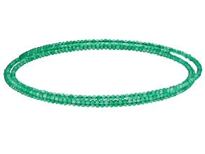 Green Onyx Stainless Steel Beaded Wrap Choker Necklace