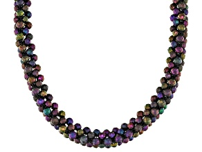 Beaded Rainbow Spinel Sterling Silver Necklace