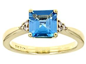 Swiss Blue Topaz 10K Yellow Gold Ring 1.98ctw