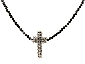 Gray Labradorite Cross Necklace