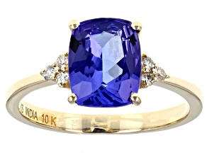 Blue Tanzanite 10k Yellow Gold Ring 2.19ctw