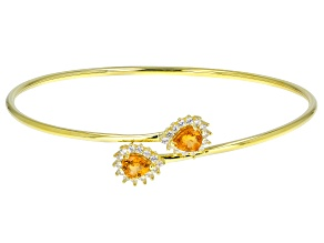 Spessartite 18K Gold Over Sterling Silver Bracelet 1.95ctw