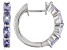 Tanzanite Rhodium Over Sterling Silver Hoop Earrings 1.49ctw