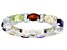 Multi-Stone Rhodium Over Sterling Silver Band Ring 4.00ctw