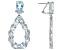 Sky Blue Topaz  Rhodium Over Sterling Silver Drop Earrings 21.56ctw