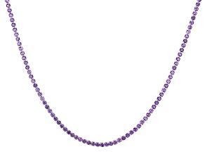Purple Amethyst Rhodium Over Silver Adjustable Bolo Necklace 10.50ctw