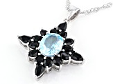 Sky Blue Topaz Rhodium Over Sterling Silver Pendant With Chain 6.50ctw