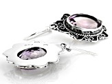 Purple Amethyst Sterling Silver Solitaire Earrings 9.00ctw