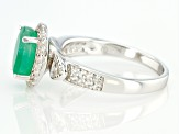 Emerald Rhodium Over Sterling Silver Ring 1.80ctw