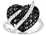 Black Spinel Rhodium Over Sterling Silver Ring 1.81ctw