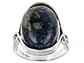 Azurmalchite Sterling Silver Ring