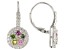 Multi Tourmaline Rhodium Over Sterling Silver Earrings 1.65ctw