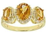 Citrine 18k Yellow Gold Over Sterling Silver Ring 1.90ctw