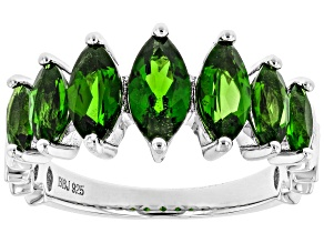 Chrome Diopside Rhodium Over Sterling Silver Ring 2.15ctw
