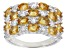 Madiera Citrine Rhodium Over Silver Ring 3.15ctw