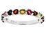 Multi Color Tourmaline Rhodium Over Sterling Silver Ring 1.45ctw
