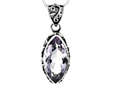 Purple Amethyst Sterling Silver Solitaire Pendant With Chain 6.00ctw