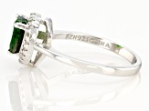 Chrome Diopside Rhodium Over Sterling Silver Ring 1.54ctw