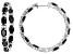 Black Spinel sterling silver hoop earrings 11.94ctw