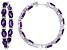 Amethyst  sterling silver hoop earrings 9.99ctw