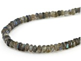 Gray Labradorite Sterling Silver Bead Necklace