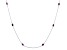 Red Indian Ruby Rhodium Over Sterling Silver Station Necklace 5.40ctw