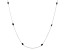 Midnight Sapphire Rhodium Over Sterling Silver Station Necklace 5.40ctw