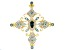 London Blue Topaz 18k Yellow Gold Over Sterling Silver Cross Pendant 2.99ctw