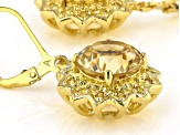 Yellow Citrine 18k Yellow Gold Over Sterling Silver Earrings 7.20ctw