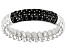 Black Spinel Rhodium Over Sterling Silver Ring 0.42ctw