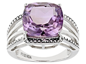 Orchid Amethyst Sterling Silver Ring 5.00ctw