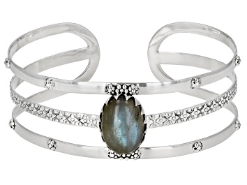 Picture of Gray Labradorite Sterling Silver Cuff Bracelet 9.50ctw