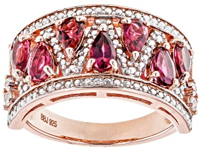 Pink Tourmaline 18k Rose Gold Over Sterling Silver Ring 1.10ctw