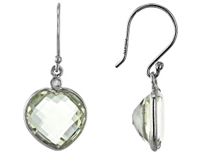 Prasiolite Rhodium Over Sterling Silver Earrings 8.71ctw