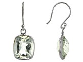 Prasiolite Rhodium Over Silver Earrings 6.25ctw