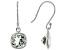 Green Amethyst Rhodium Over Silver Earrings 2.75ctw