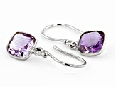 Amethyst Rhodium Over Silver Earrings 2.75ctw