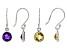 Citrine &  Amethyst Rhodium Over Silver Earrings Set of 2 3.20ctw