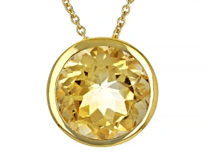 Citrine 18k Yellow Gold Over Silver Necklace 4.80ctw
