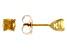 Citrine 14k Yellow Gold Stud Earrings 0.62ctw