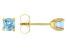 Swiss Blue Topaz 14k Yellow Gold Stud Earrings 0.62ctw