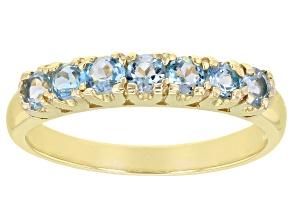 Sky Blue Topaz 10k Yellow Gold Ring 0.75