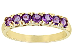 Amethyst 10k Yellow Gold Ring 0.53ctw