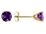 Amethyst 14k Yellow Gold Stud Earrings 1.03ctw