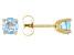 Sky Blue Topaz 14k Yellow Gold Stud Earrings 1.13ctw