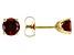 Garnet 14k Yellow Gold Stud Earrings 1.14ctw